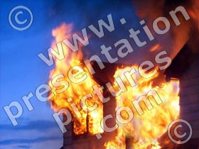 house fire - powerpoint graphics