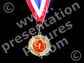medal first place - powerpoint graphics