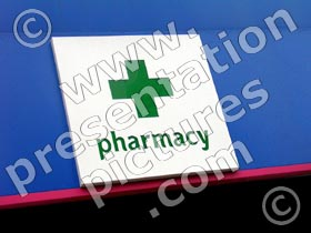 pharmacy sign - powerpoint graphics